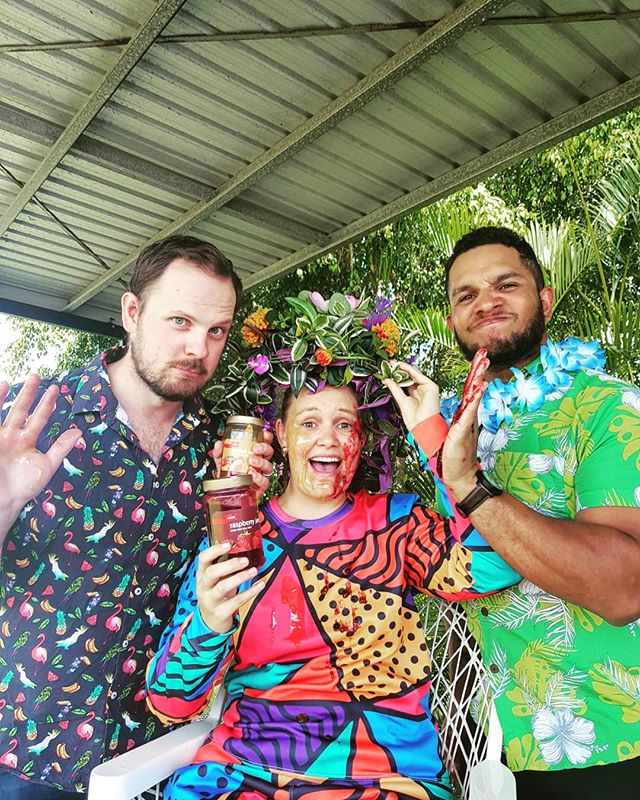 Our manager @amyhetherington was our target for Jam Skirmish this afternoon while @thentnews  got some quality snaps to promote #tropicaljam which is coming up this Saturday!