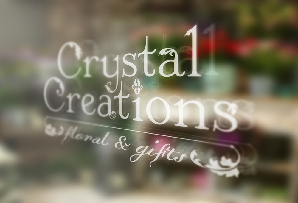 Crystal Creations Logo and Window Graphic