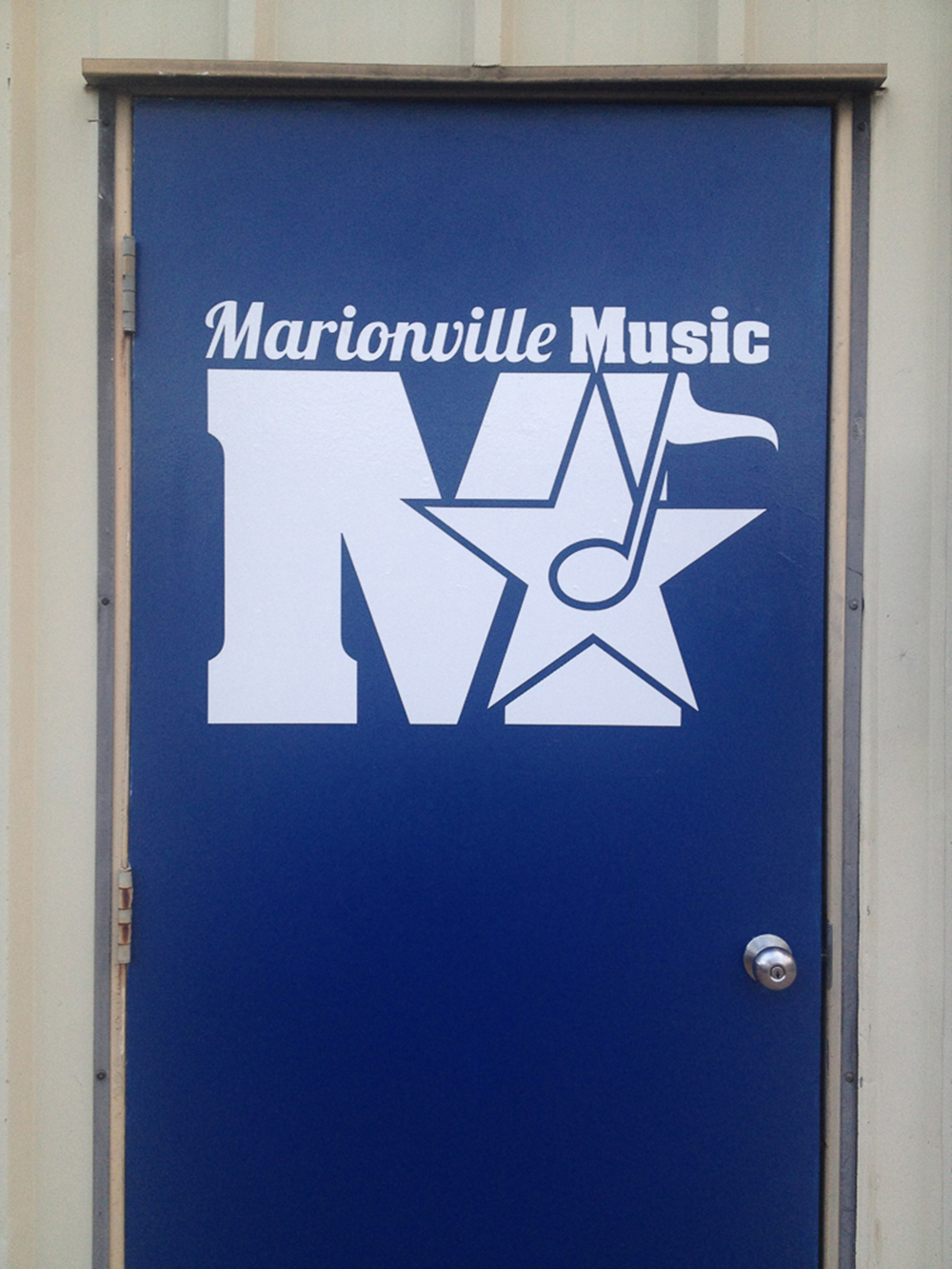 Door Graphic for Marionville Band Department