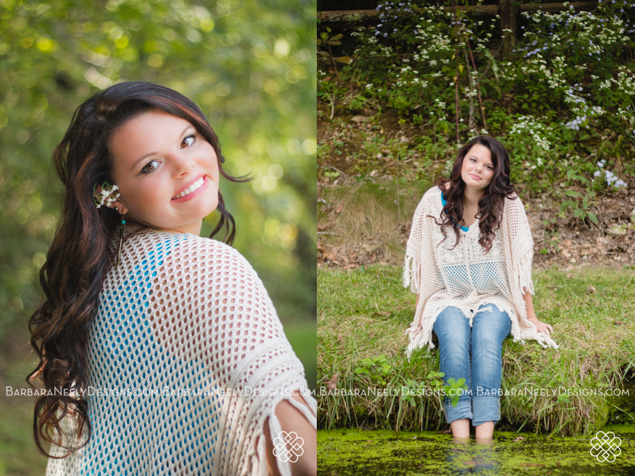Senior girl portraits at the lake
