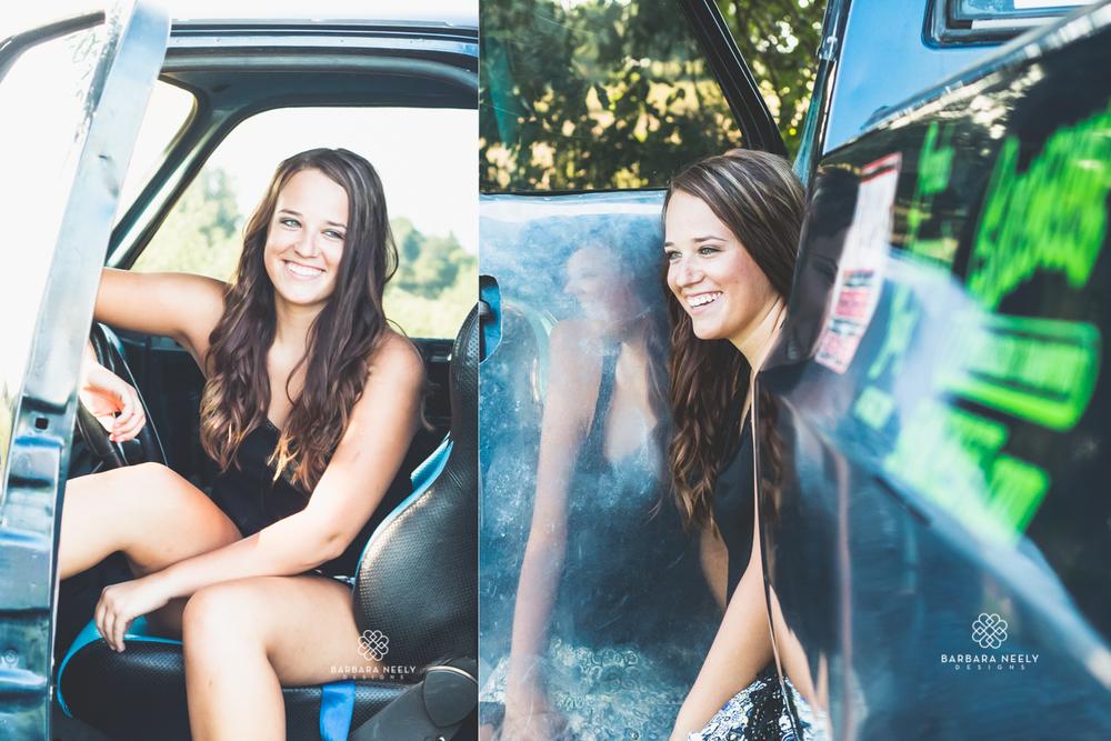 Billings Senior Girl with Pulling Truck