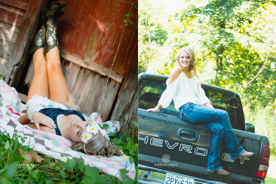 Best Country Girl with a Truck Senior Pictures in Southwest Missouri