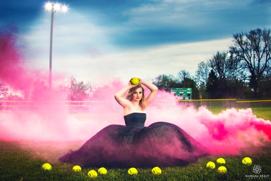 Smoke Bombs and Prom Dresses Make Unique Senior Portraits