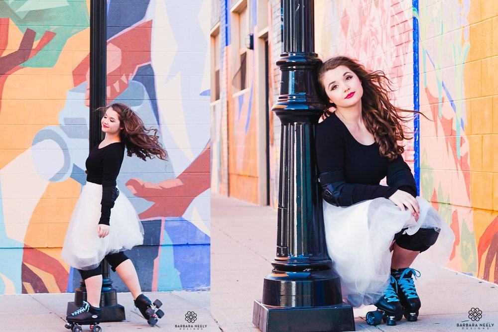 Roller derby inspired senior portraits in Downtown Springfield Missouri.jpg