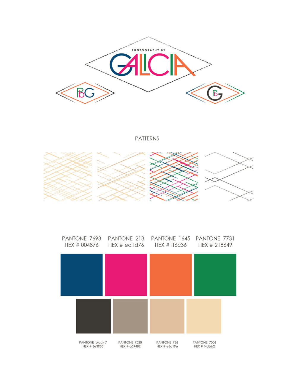 Photography by Galicia final brand guide