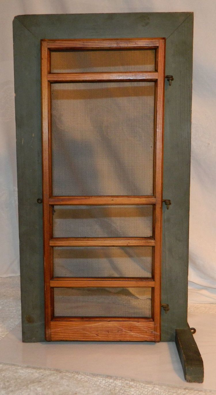 1912 Kasement Skrene Dore Screen Door Wooden Salesman Sample