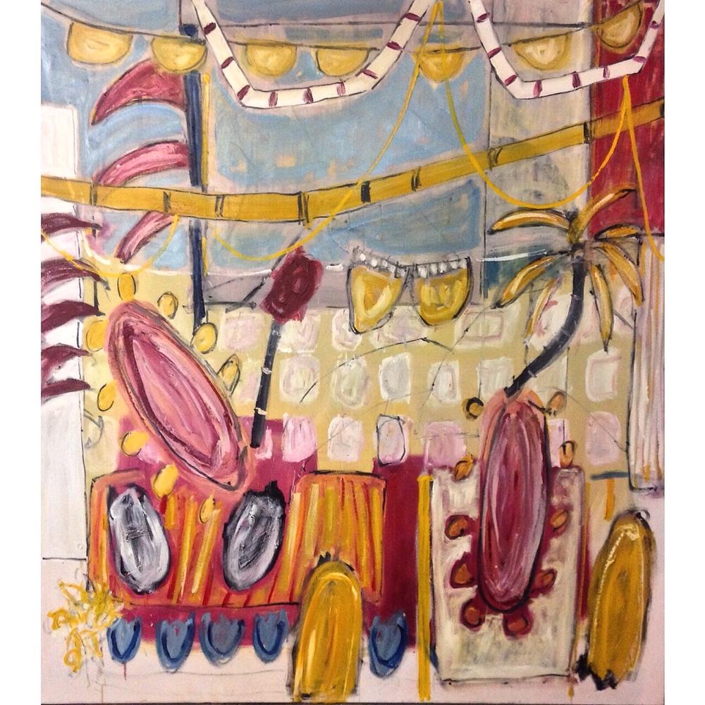 Agonda, 168cm x 152 cm, oil on canvas.