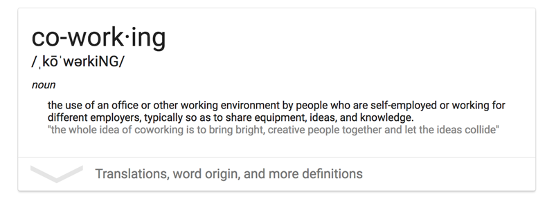 define coworking