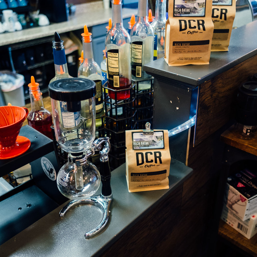 Serving Dillanos Coffee Roasters and Siphon brew