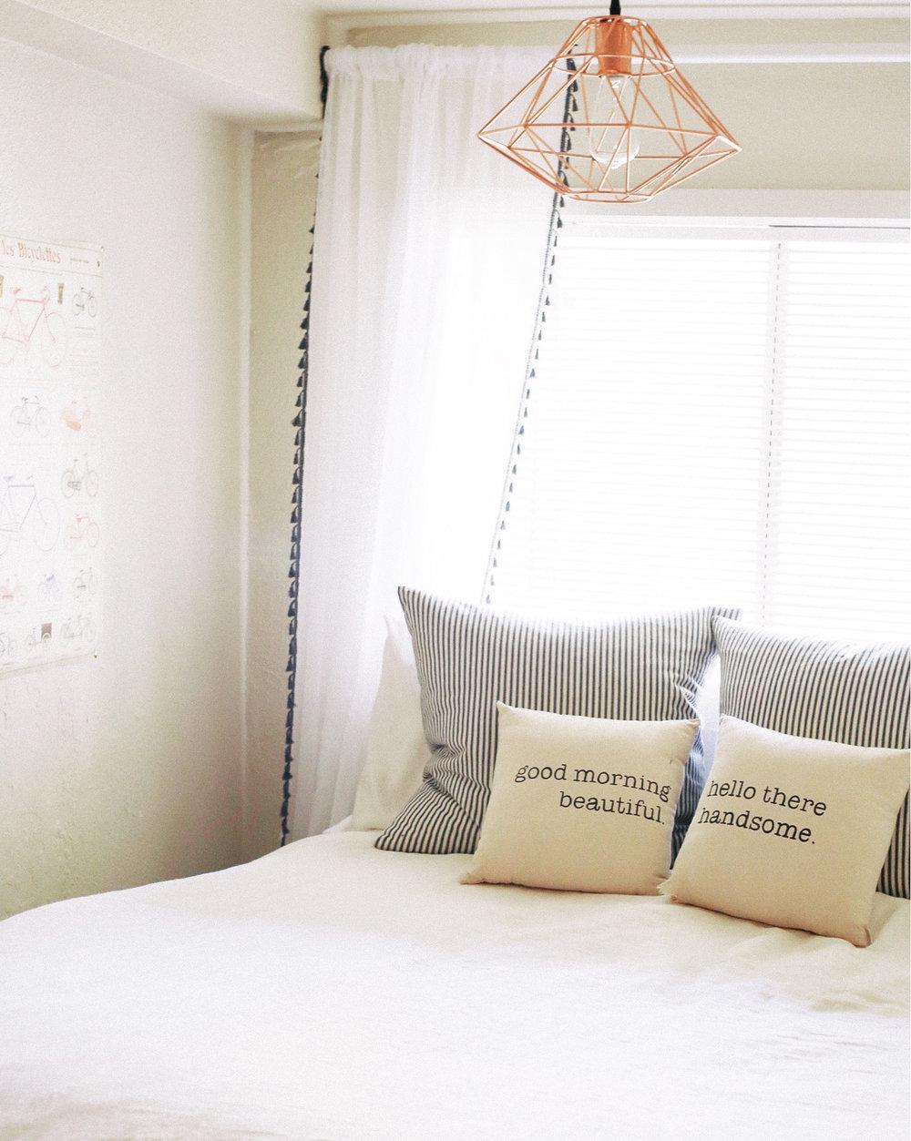 Pillows | Curtains | light | linen duvet