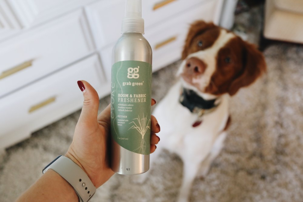 This room and fabric freshener...y'all! It has the sweetest smells, not overpowering at all but does a great job getting things fresh again without having to get carpet cleaners up in your home. Remi loves the smell, too! If you have pets, this is a must.