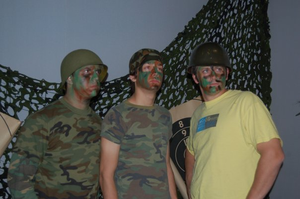 Left to Right: Patrick, JD, Paul, at youth group camo night