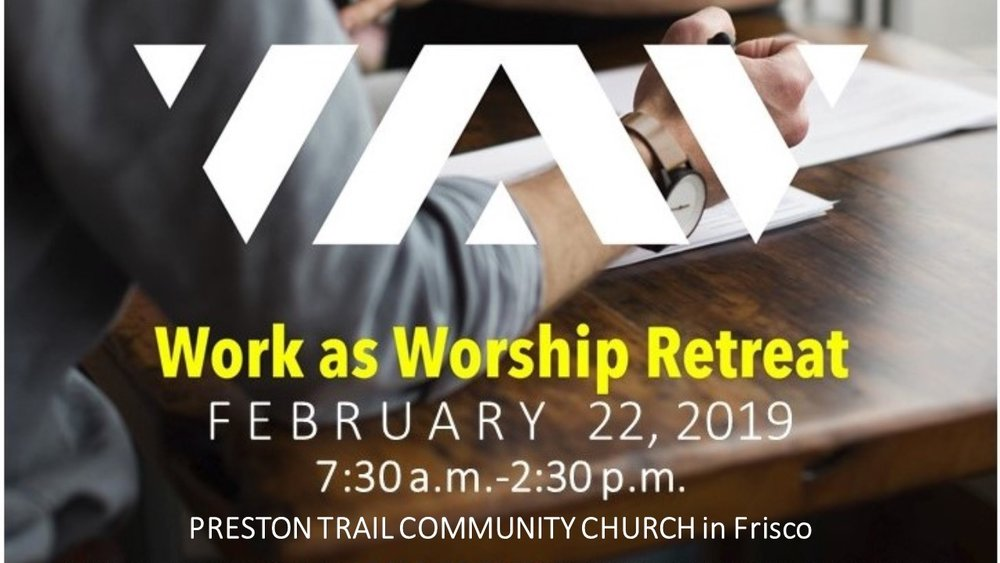 FREE FOR ABCers if you register before Feb. 15th with this code: WAWFREELIVE2019    We will attend the live event in Frisco and joining thousands of Christian business professionals across the country for this One-day livestream event. Lunch is included in your registration.    TO REGISTER: Click on the image above or    Here