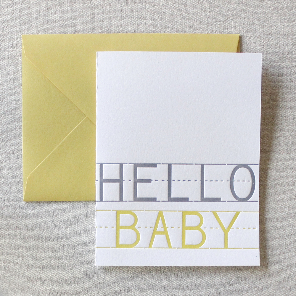 A greeting card to well ....greet the new baby on the way. SEE IT IN THE SHOP.