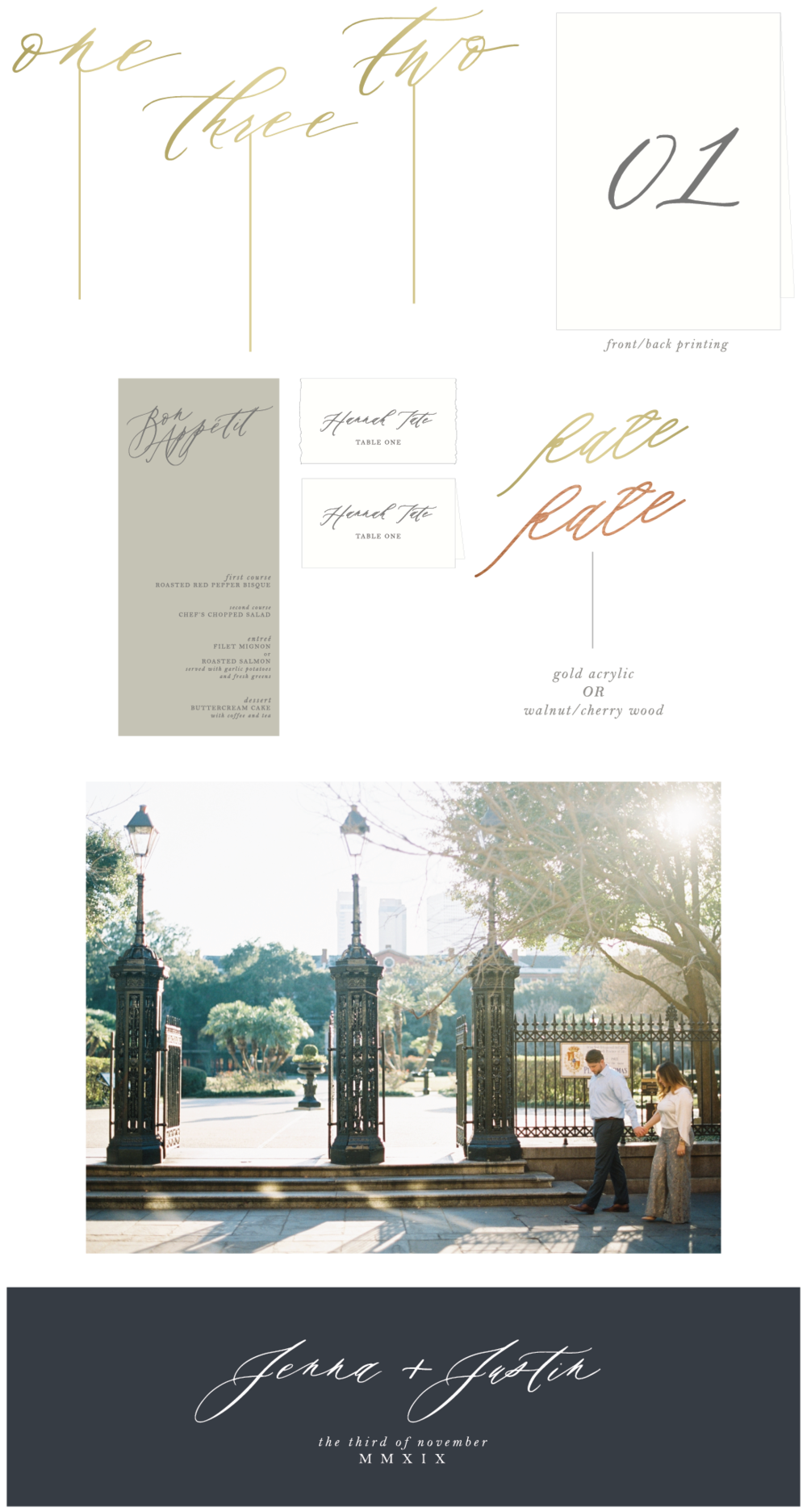 custom wedding stationery by Hope Johnson