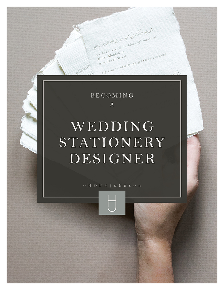 Becoming a Wedding Stationery Designer by HOPE johnson and Skillshare