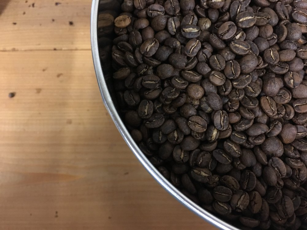 Test batch roasting of Jay D's Single Origin Coffee at Cafeciteaux in Baton Rouge