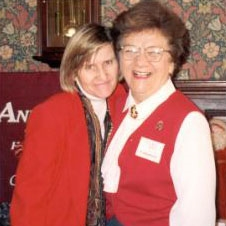 Founders Dr. Pat Bragdon & Mary Burke at 1995 Winter Wonderland Tour of Homes