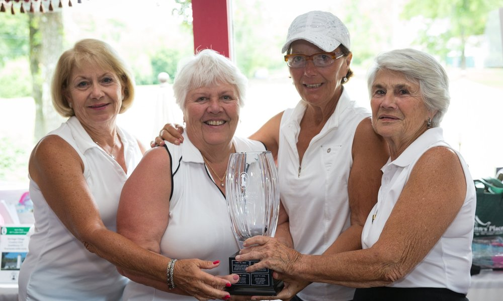 2017 Ladies Golf Classic Winners: Barbara Mulcahy, Jane Mathew, Linda Burrell and Helen LaJoie. Congrats!