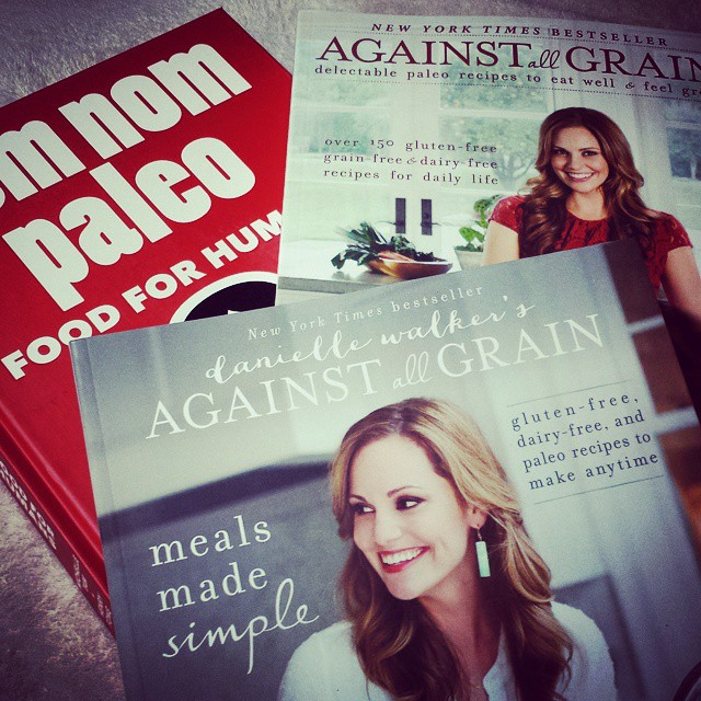 Sometimes a few new cookbooks are a well-deserved treat. #makingourselves #glutenfree #againstallgrain #homecooking #paleo