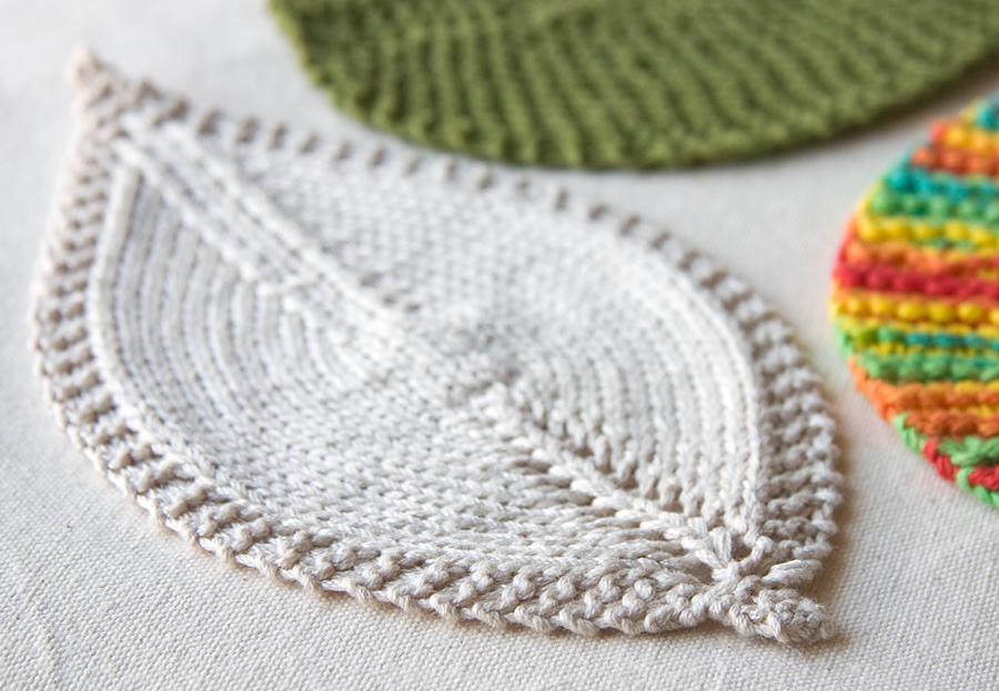 Leafy Washcloth  by Tricksy Knitter