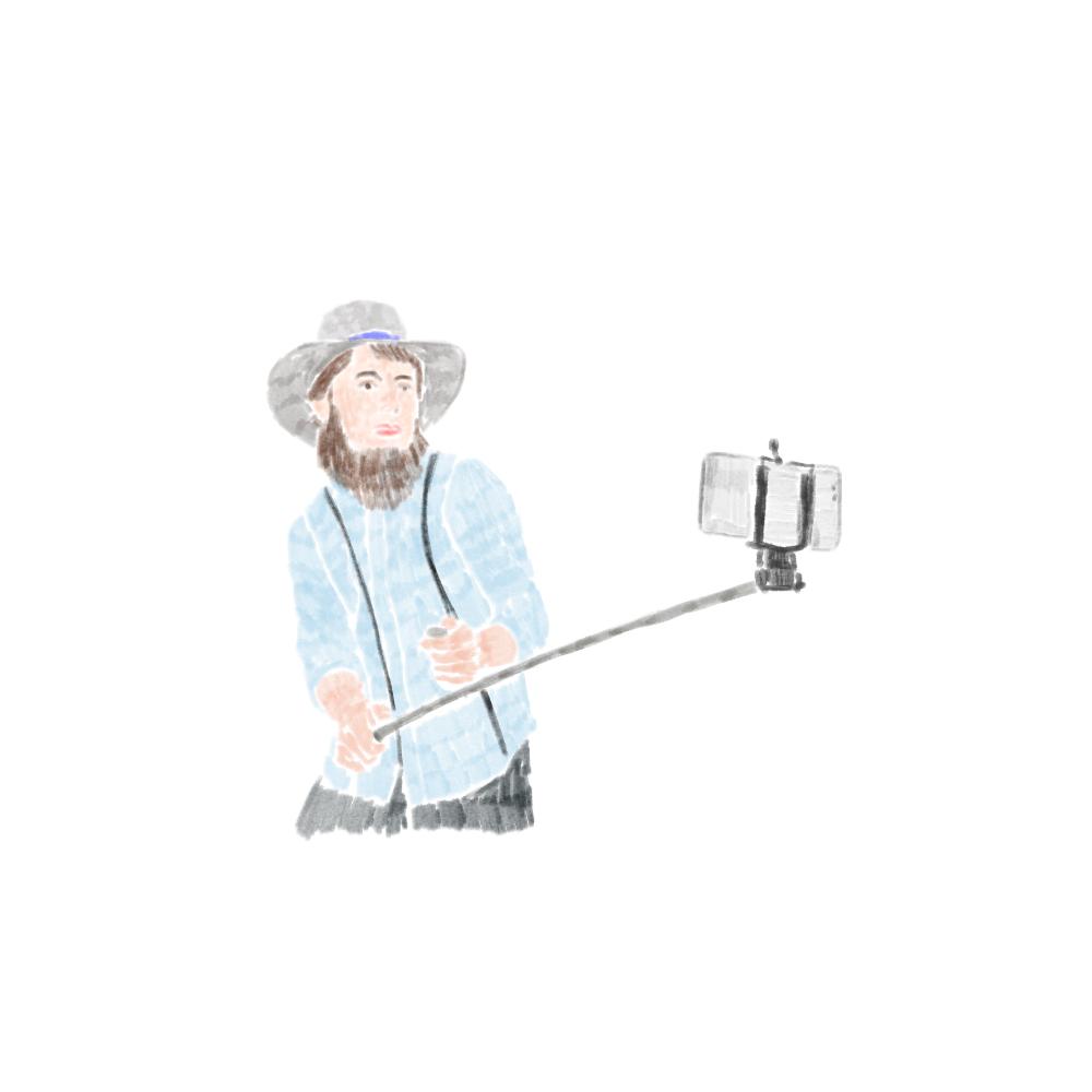 Amish Selfie