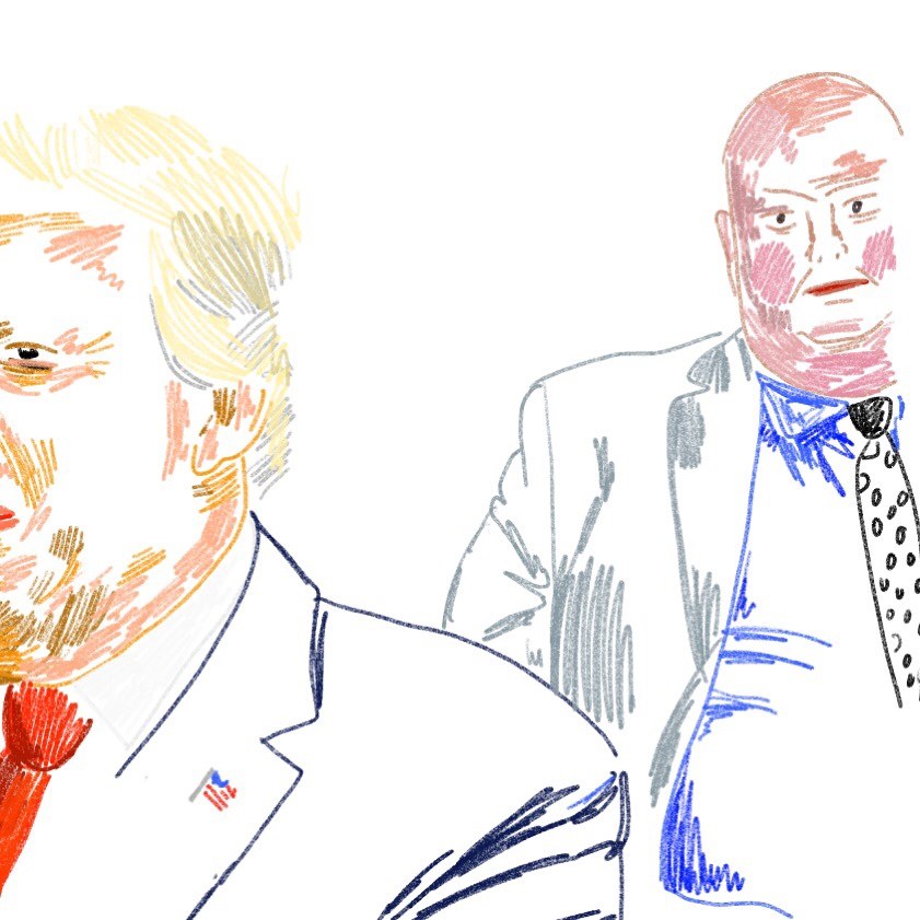Donald Trump with surprise guest Rob Ford