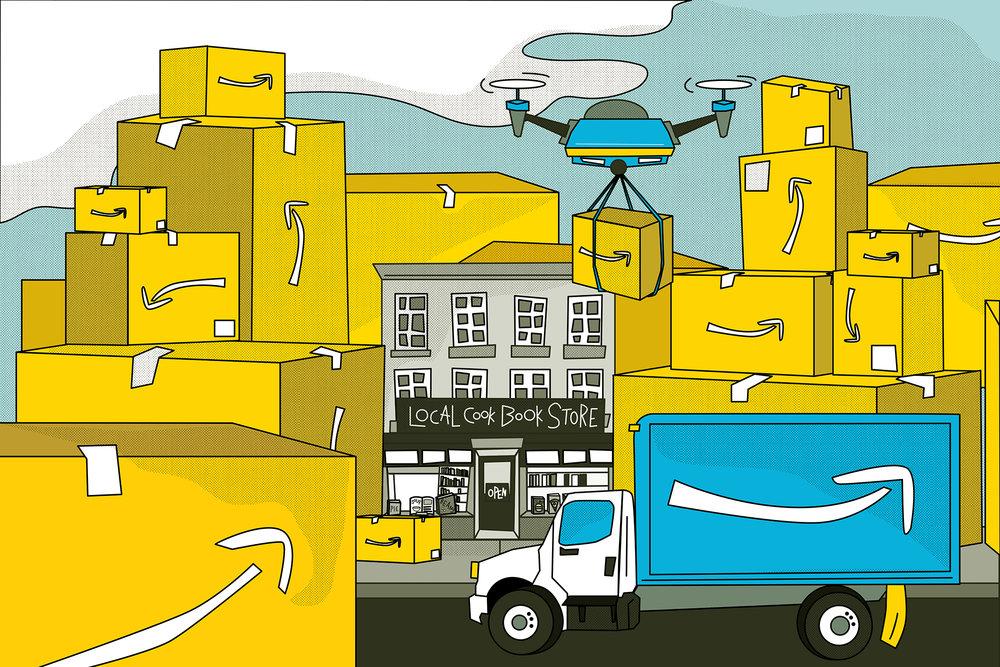 """""""Selling Cookbooks in the Age of Amazon"""" by Deborah Reid  AD: Erin DeJesus  Link  here."""