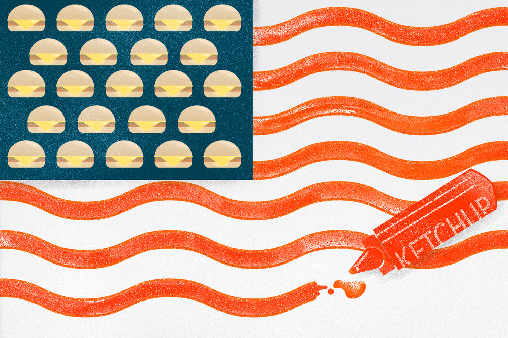 """""""I Want to Be a Non-Combatant in the Coming Burger Wars"""" by Meghan McCarron   AD: Matt Buchanan  Link  here."""