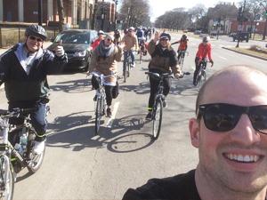 BIKING WITH SLOW ROLL CHICAGO Image credit: Justin Haugens