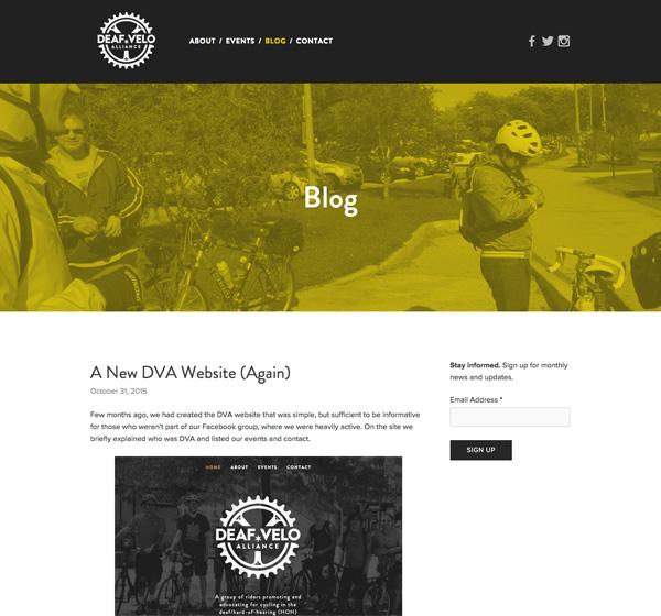 DVA blog page