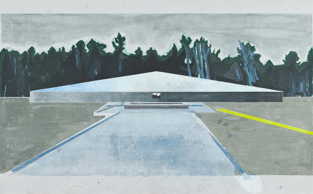 """Paisagem De Erros (2ª Série) #03 - """"Sóbibor"""" Acrílico sobre Papel Fabriano Accademia   400gr/m2 152 x 250 cm Janeiro 2015"""