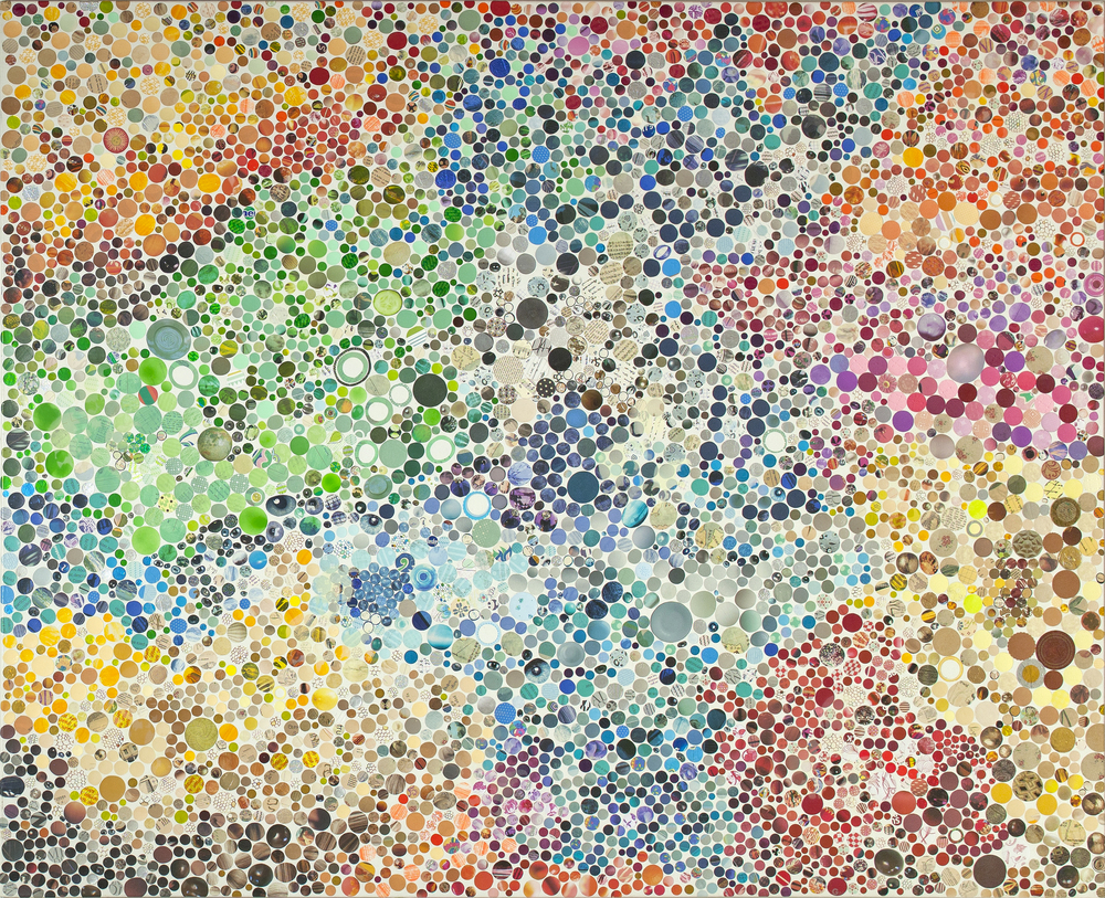 Memento Mori Colagem de Materiais Diversos e Tinta Fotoluminescente sobre Tela 130 x 160 cm 2014