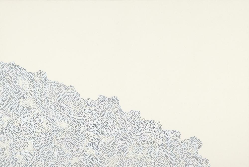 Sem Título, Série Redes Bordado em Lona Esticada sobre Tela 81 x 120 cm 2006
