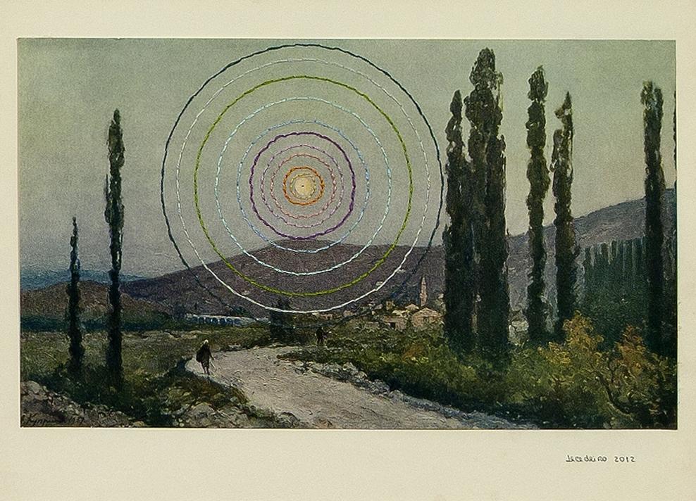 Sem Título, Série Milagres Bordado sobre Gravura Encontrada 40 x 46,5 cm 2012
