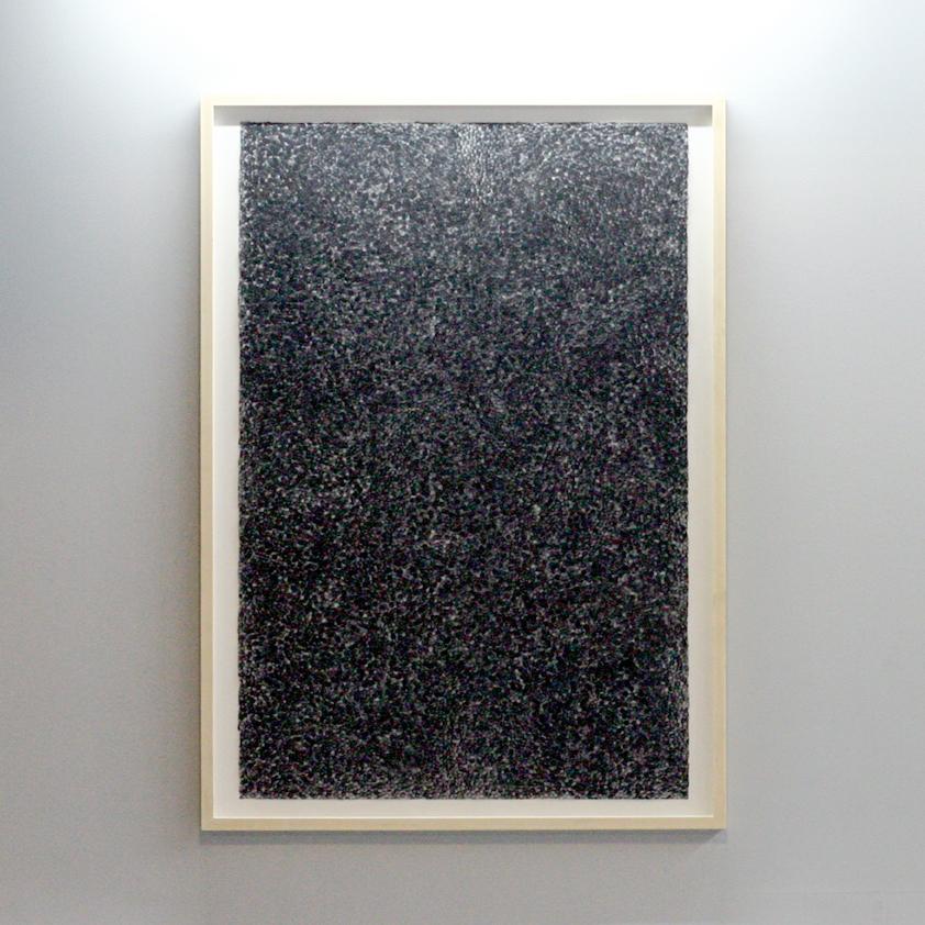 Da Série Ponto-Linha-Plano [Ponto] Vista da Obra na MOSTRA'15 [Lisboa] Acrílico sobre Papel 152,4 x 101,6 cm 2015