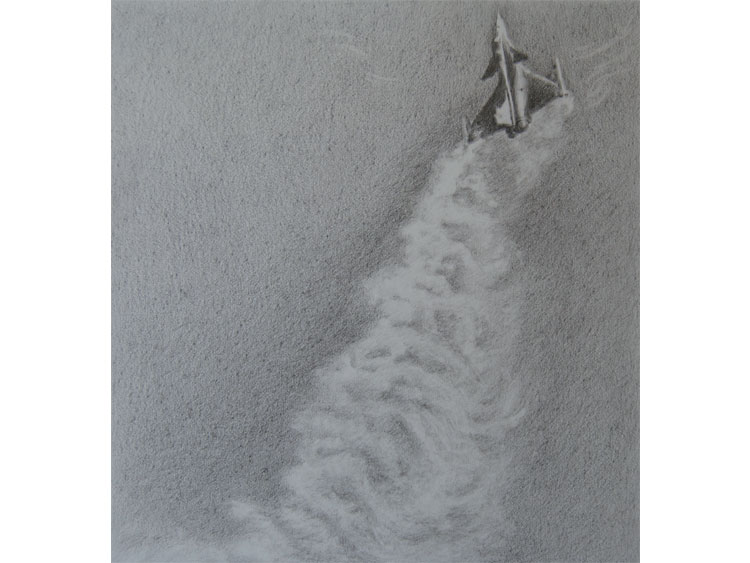 Contrail - 13829a15afbi0 Graphite on Arches paper 31 x 28 cm 2012