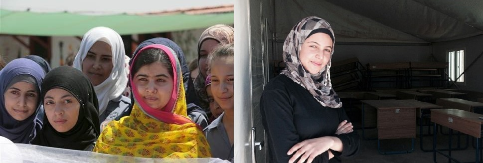 Malala left, Mazoun right. Images from Reuters and CNN.