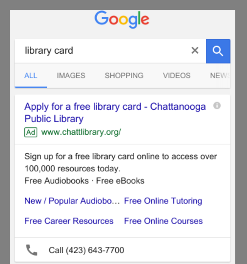 Apply for a library card - ad on mobile.png