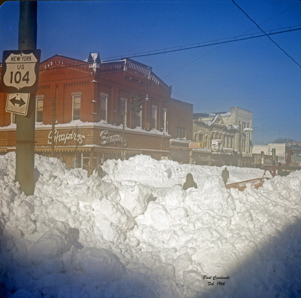 Downtown Oswego survives The Blizzard of '66