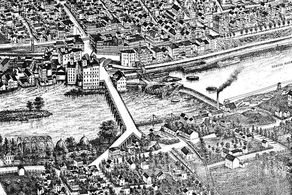Fulton, NY Aerial View