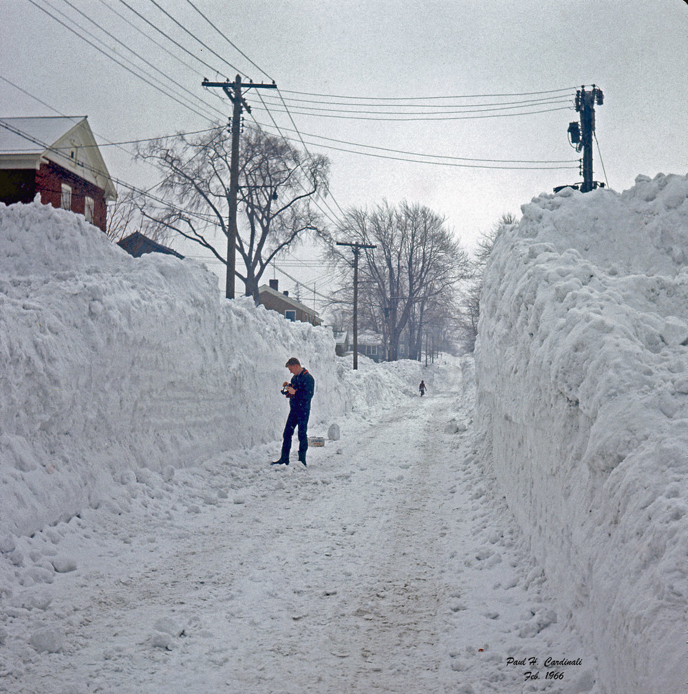 A picture perfect memory from The Blizzard of '66. Photo taken in Oswego, New York by Paul Cardinali.