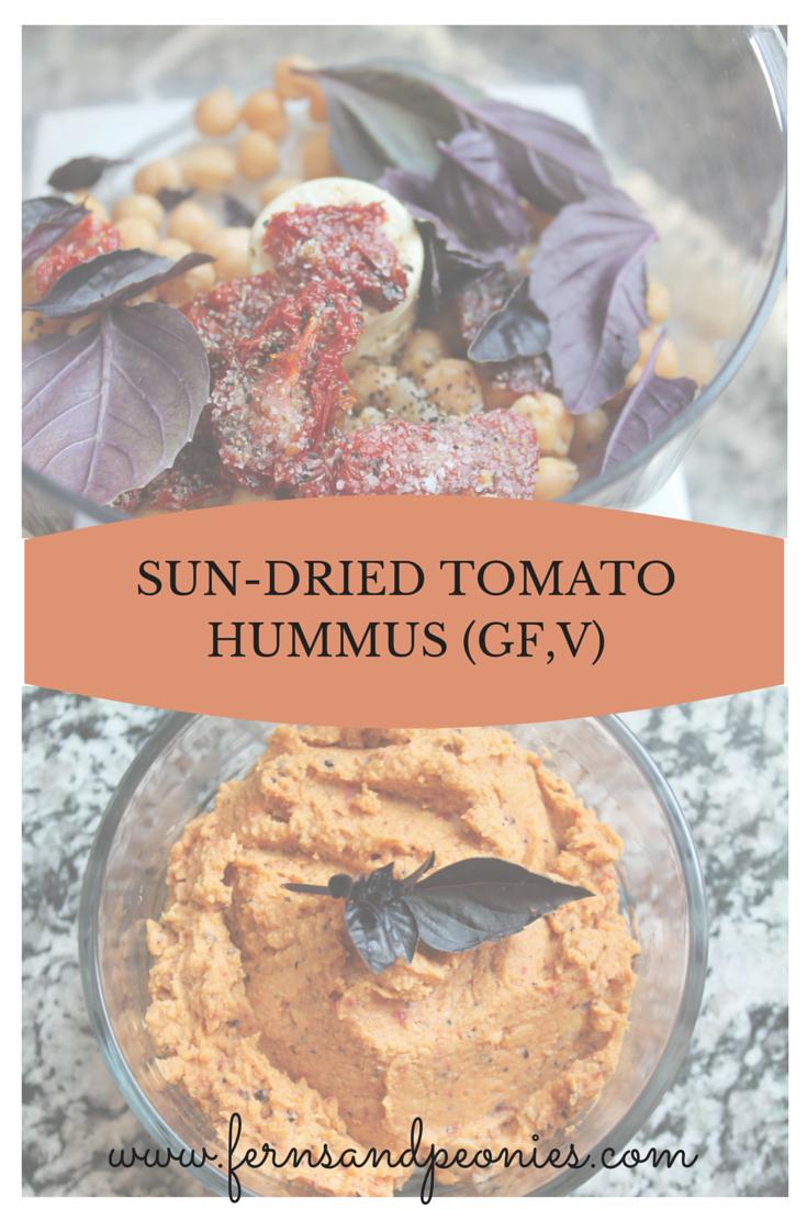 Sun-dried Tomato Hummus from Ferns & Peonies www.fernsandpeonies.com