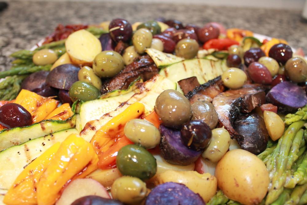Roasted Vegetable Salad by Ferns & Peonies