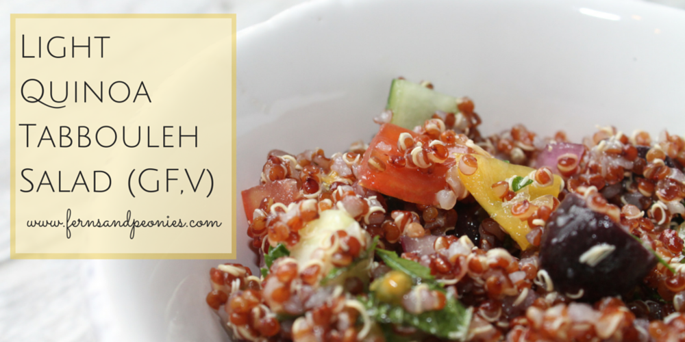 Light Quinoa Tabbouleh Salad (GF,V) from www.fernsandpeonies.com