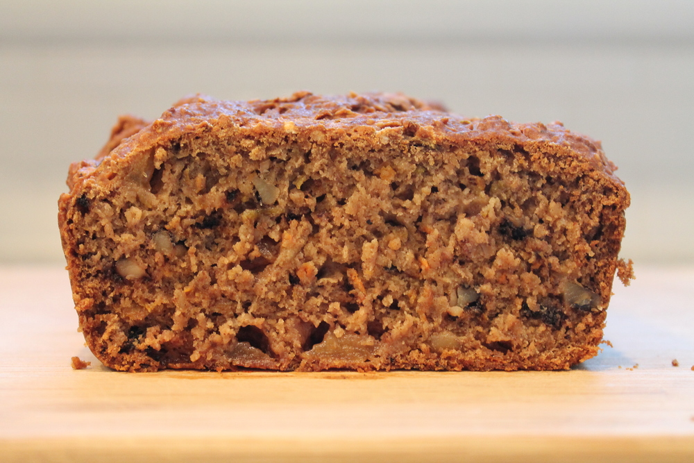 Carrot Apple Nut Bread - moist, delicious, gluten-free and vegan. Find me at www.fernsandpeonies.com