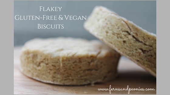 Flakey Gluten-Free Vegan Biscuits; closest you will get to the real thing. From www.fernsandpeonies.com