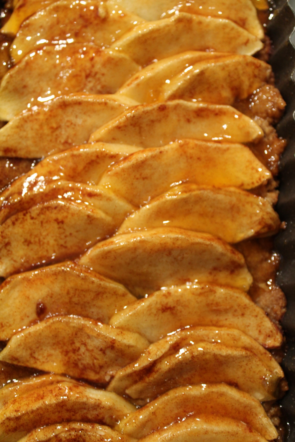 Apricot Glazed Apple Tart (GF,V) from www.fernsandpeonies.com