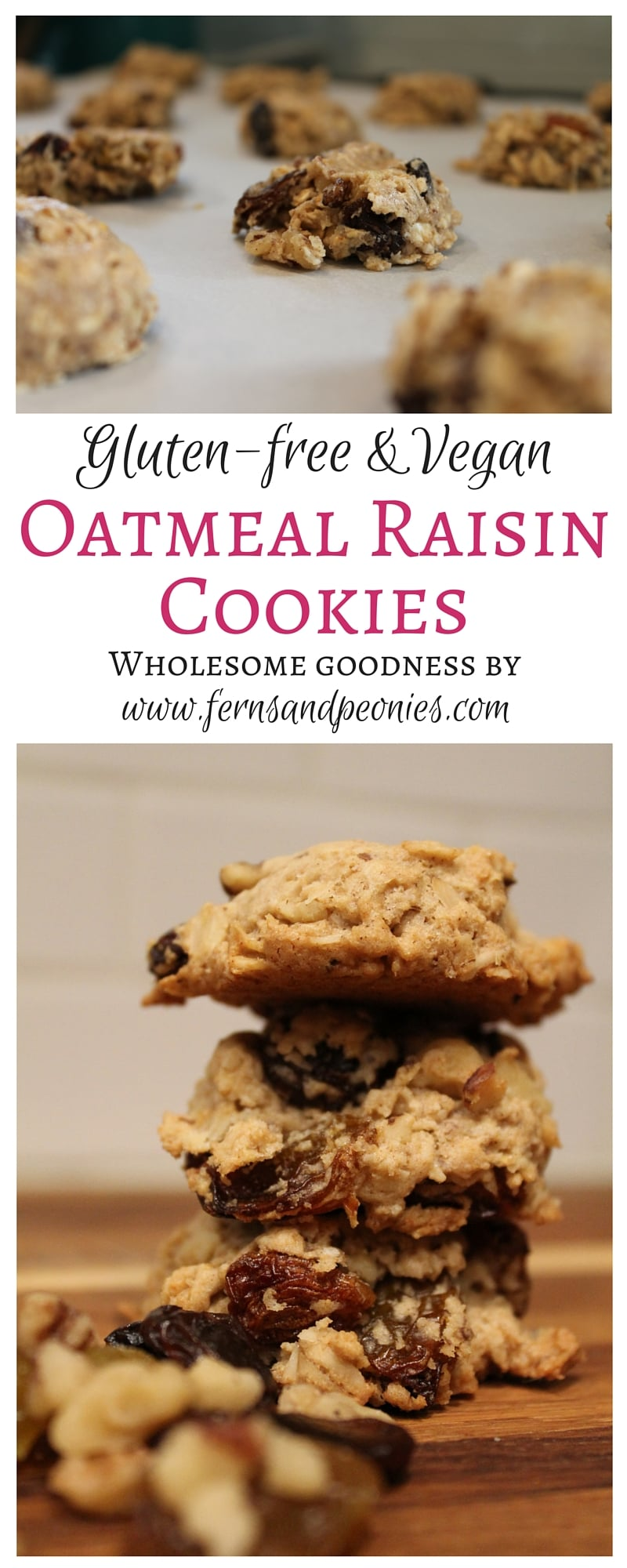 Winter Running Motivation and a Gluten-free & Vegan Oatmeal Raisin Cookie. By www.fernsandpeonies.com
