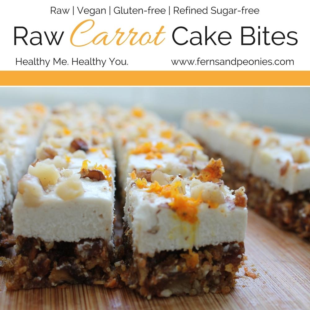 Raw Carrot Cake Bites Ferns  Peonies